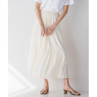 【メイソングレイ】 楊柳ティアードスカート レディース オフホワイト M MAYSON GREY