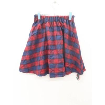 子供服★GLOBAL WORK(グローバルワーク)ギャザーフレアスカート 赤/紺 新品 L