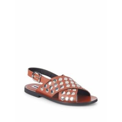 McQ アレクサンダーマックイーン レディース シューズ サンダル Metallic Leather Slingback Sandals