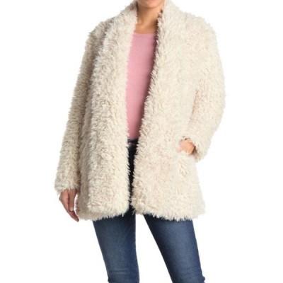 ラブトークン レディース ジャケット&ブルゾン アウター Missy Shaggy Faux Fur Coat IVORY