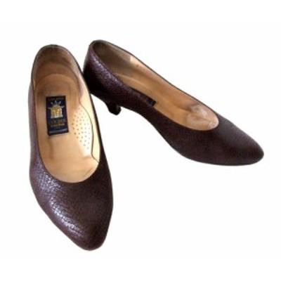 sacha サシャ「37」レザーヒールパンプス (靴 シューズ 皮 革) 093829【中古】