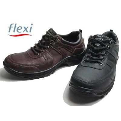 セール品 返品交換不可 フレクシィ flexi アウトドア調 カジュアルシューズ レースアップ IMFX66513 メンズ 靴