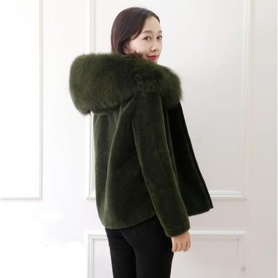 おしゃれ ショートコート上着 ジャケット アウター 暖かい 冬物 レディース オフィス OL 通勤 人気 フェイクファー 女性 防寒 毛皮コート