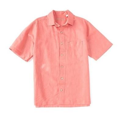 カリビアン メンズ シャツ トップス Linen Short-Sleeve Woven Camp Shirt