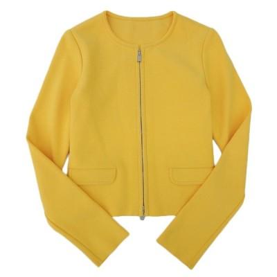 超美品 フォクシー 2018年商品 ニットジャケット アーバンスタンダード 38 マリーゴールド 18年9月メルマガ増産 試着程度 38054