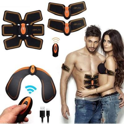 ワイヤレスリモコンインテリジェントなフィットネス機器 筋肉刺激腹部 EMSヒップトレーナー 電気腹部筋刺激 フィットネスリモートUSBの充電