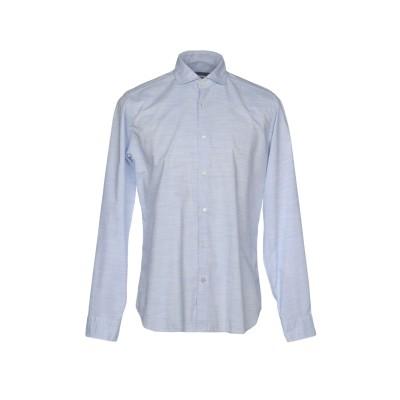 NEW ENGLAND シャツ アジュールブルー 40 コットン 100% シャツ