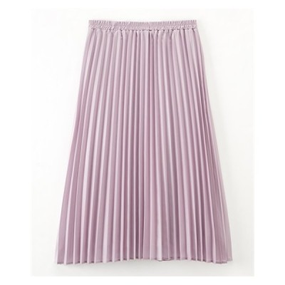 スカート ロング丈 マキシ丈 大きいサイズ レディース 微光沢 プリーツ LL/3L/4L ニッセン nissen
