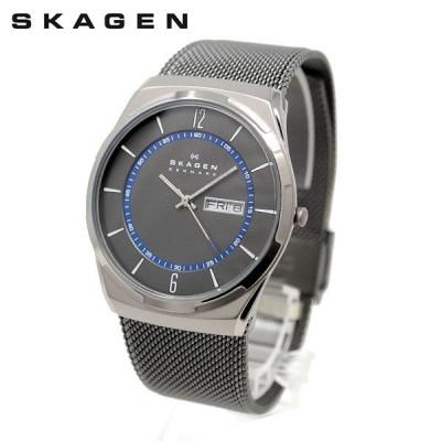 スカーゲン 腕時計 SKW6078 SKAGEN MELBYE 時計 メンズ ウォッチ ガンメタル ブレス