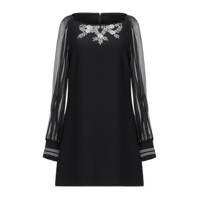 ERMANNO DI ERMANNO SCERVINO ミニワンピース&ドレス ブラック 44 指定外繊維(テンセル)® 76% / レーヨン 21