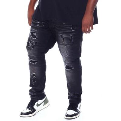 マコビ Makobi メンズ ジーンズ・デニム ボトムス・パンツ Coated Biker Jeans (B&T) Black