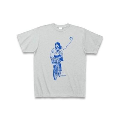 わ〜〜〜〜って言う女の子 Tシャツ(グレー)