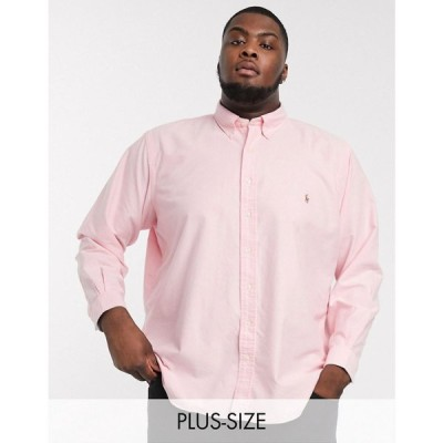 ラルフ ローレン Polo Ralph Lauren メンズ シャツ 大きいサイズ トップス Big & Tall oxford shirt custom regular fit player logo in pink ピンク