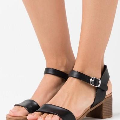 ニュールック レディース 靴 シューズ PLATYPUS BLOC HEEL - Sandals - black