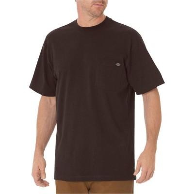 ディッキーズ Dickies メンズ Tシャツ 大きいサイズ トップス Big & Tall Short Sleeve Heavyweight T-Shirt Chocolate Brown