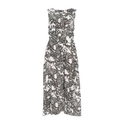 アスペジ ASPESI 7分丈ワンピース・ドレス ミリタリーグリーン 42 シルク 100% 7分丈ワンピース・ドレス