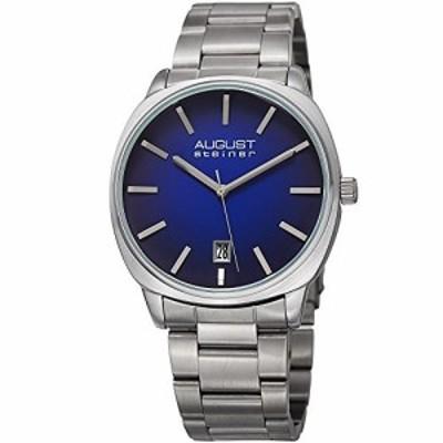 August Steiner Men &aposs QuartzステンレススチールCasual Watch , Color : silver-toned (モデル: as8237ssbu )