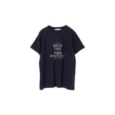グリーンパークス Green Parks 多段キレイめロゴTシャツ (Navy)