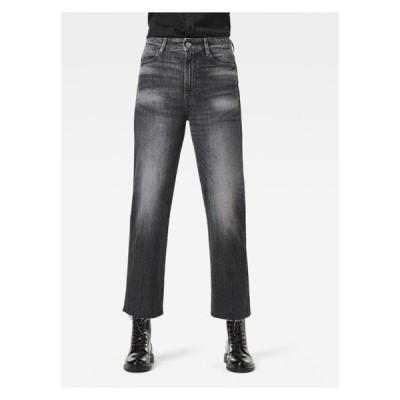 ジースター レディース ファッション TEDIE ULTRA HIGH STRAIGHT ANKLE - Straight leg jeans - black denim