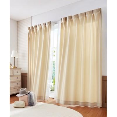 シルキーカラー防炎カーテン ドレープカーテン(遮光あり・なし) Curtains, blackout curtains, thermal curtains, Drape(ニッセン、nissen)