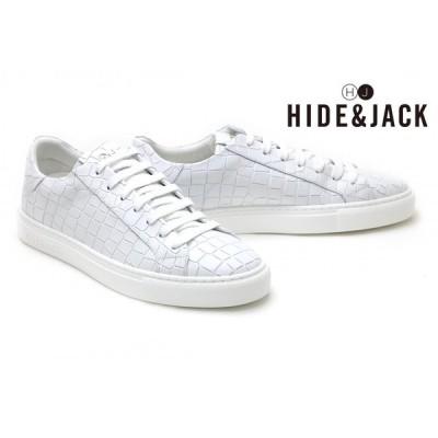 ハイド アンド ジャック HIDE & JACK メンズ スニーカー ホワイトホワイト イタリア製 ESSENCE TUSCANY essence1 whwh
