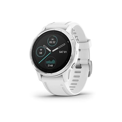 Garmin f〓nix 6S, Ultimate Multisport GPS Watch, Smaller-Sized, Heat and Altitude Adjusted V02 Max, Pulse Ox Sensors and Training Load Focus, White