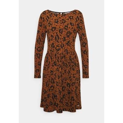 トムテイラーデニム ワンピース レディース トップス DRESS - Jersey dress - brown