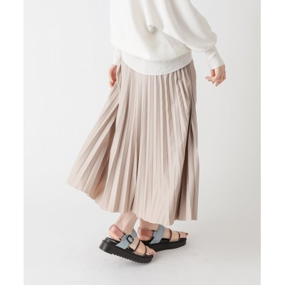 動画付き【大人かっこいい印象に】レザープリーツスカート