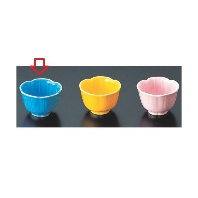 小鉢 梅型珍味 ブルー(小) 高さ35mm×直径:52/業務用/新品