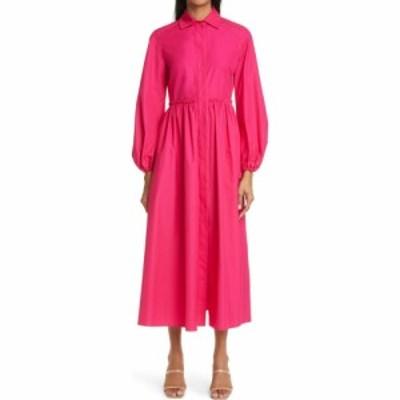 マックスマーラ MAX MARA レディース ワンピース シャツワンピース ワンピース・ドレス Bairo Long Sleeve Poplin Shirtdress Fuchsia