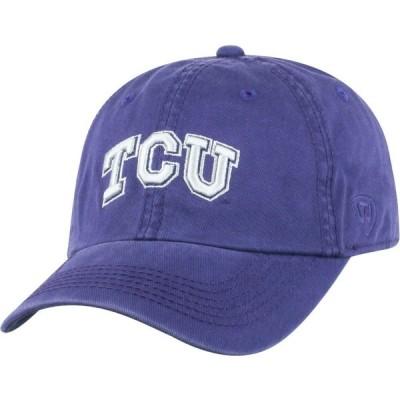 トップオブザワールド Top of the World メンズ キャップ 帽子 TCU Horned Frogs Purple Crew Adjustable Hat