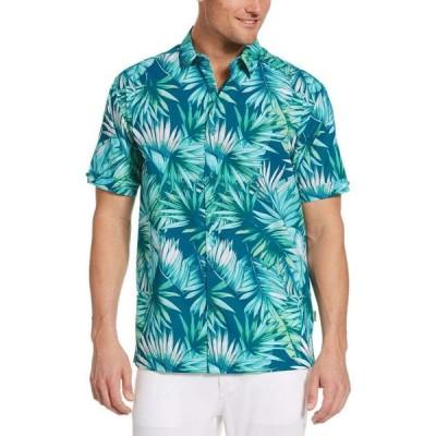 キューバベラ Cubavera メンズ トップス 大きいサイズ Big & Tall Tropical-Print Shirt Crystal Teal