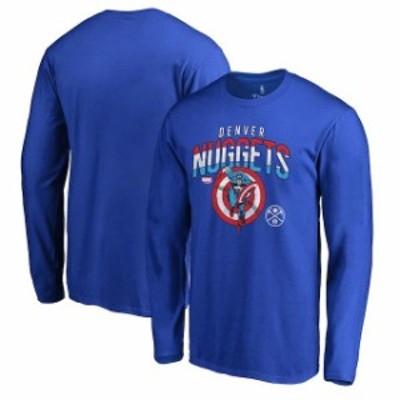 Fanatics Branded ファナティクス ブランド スポーツ用品  Fanatics Branded Denver Nuggets Royal Captains Shield Long Sleeve T-Shirt