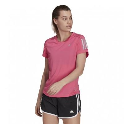 アディダス レディース 陸上/ランニング 半袖Tシャツ OWN THE RUN TEE H30045 : ピンク adidas