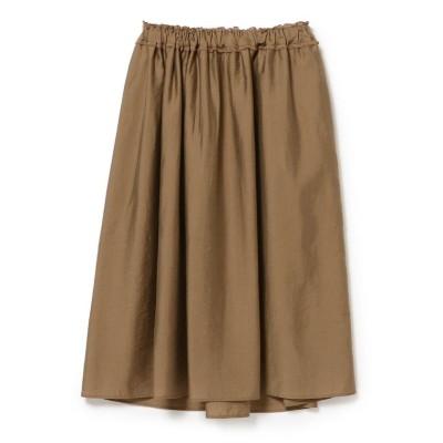 【ビームス ウィメン】 Demi−Luxe BEAMS / ウエストギャザー スカート レディース BROWN ONESIZE BEAMS WOMEN