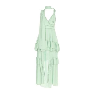 MANGANO ロングワンピース&ドレス ライトグリーン 44 ポリエステル 100% ロングワンピース&ドレス