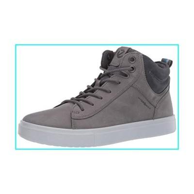 ECCO Men's Kyle Hi-Top Waterproof Sneaker, Titanium, 11-11.5