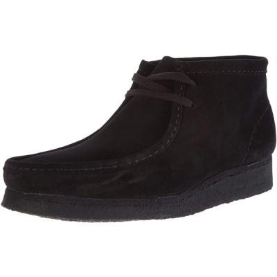 クラークス 本革 ブーツ ワラビーブーツ レディース ブラックスエード 25 cm