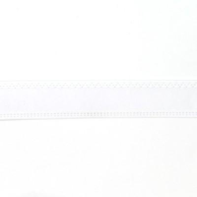 \期間限定10%OFF/  帽子用テープ テトロンスベリ 芯有(NIS) 25mm 白 (H)_6b_