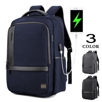 リュックサック バッグ メンズ デイパック ビジネスバッグ ビジネスリュック 鞄 撥水 大容量 旅行 USBポート A4サイズ 通勤