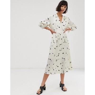 セレクティッド レディース ワンピース トップス Selected Femme floral midi dress