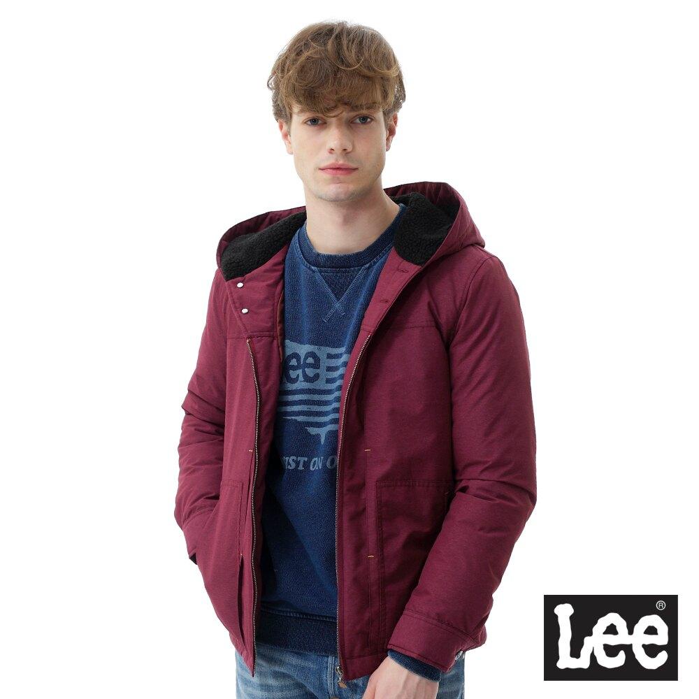 Lee 連帽羽絨外套 男款 藏紅