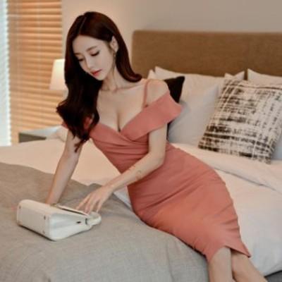 パーティードレス 膝丈 タイト オフショル かわいい ピンク 大きいサイズ xl キャバ ドレス 膝丈 おしゃれ きれいめ ワンピース ドレス