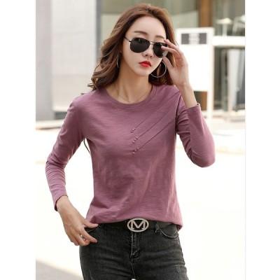 大きいサイズS-3XL ファッション 人気Tシャツ パープル グリーン2色展開