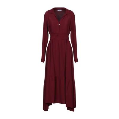HOPPER 7分丈ワンピース・ドレス ボルドー 44 アセテート 52% / シルク 48% 7分丈ワンピース・ドレス