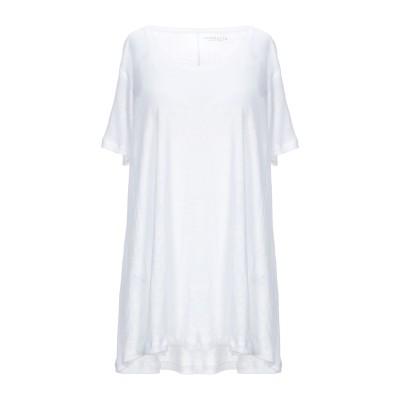 PUROTATTO T シャツ ホワイト L 麻 100% T シャツ