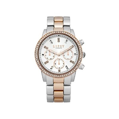 Lipsy lp161Ladies White and Two ToneブレスレットWatch好評販売中
