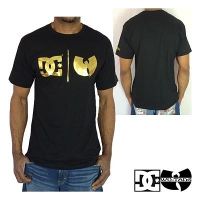 DC x WU-TANG ディーシー ウータン 20thアニバーサリーTシャツ 黒金 ブラックxゴールド ●TS-749●一万円以上送料無料