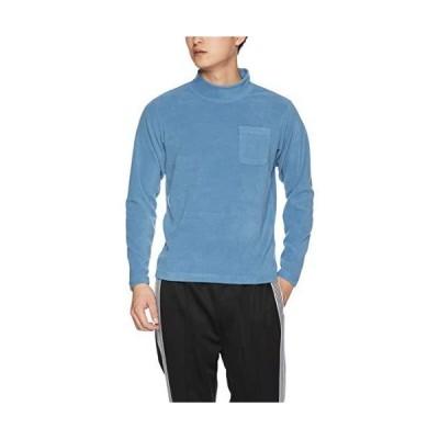 セシール フリースTシャツ スマートヒート ハイネック 長袖 吸湿発熱+静電気軽減 JK-518 メンズ クラウドブルー 日本 LL (日本