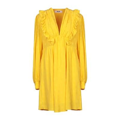 エムエスジーエム MSGM ミニワンピース&ドレス イエロー 38 アセテート 69% / シルク 31% ミニワンピース&ドレス